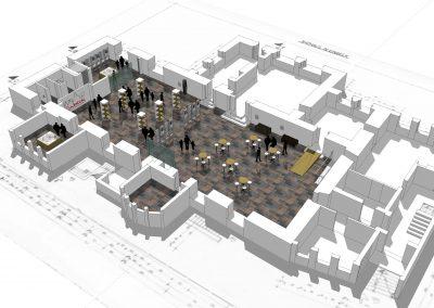3D Ansicht der Rathaushalle