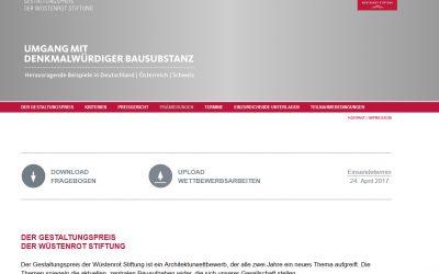 """Ausgelobt: Gestaltungspreis """"Umgang mit denkmalwürdiger Bausubstanz"""""""