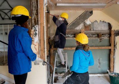 Bauarbeiten im Lenz-Haus