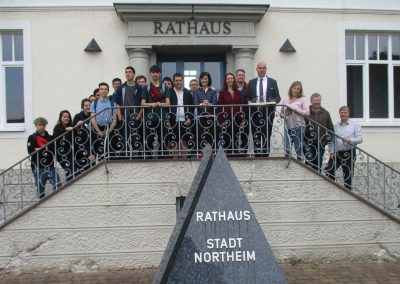 Französische Berufsschüler in Northeim