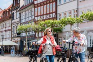 Radfahrer in Duderstadt