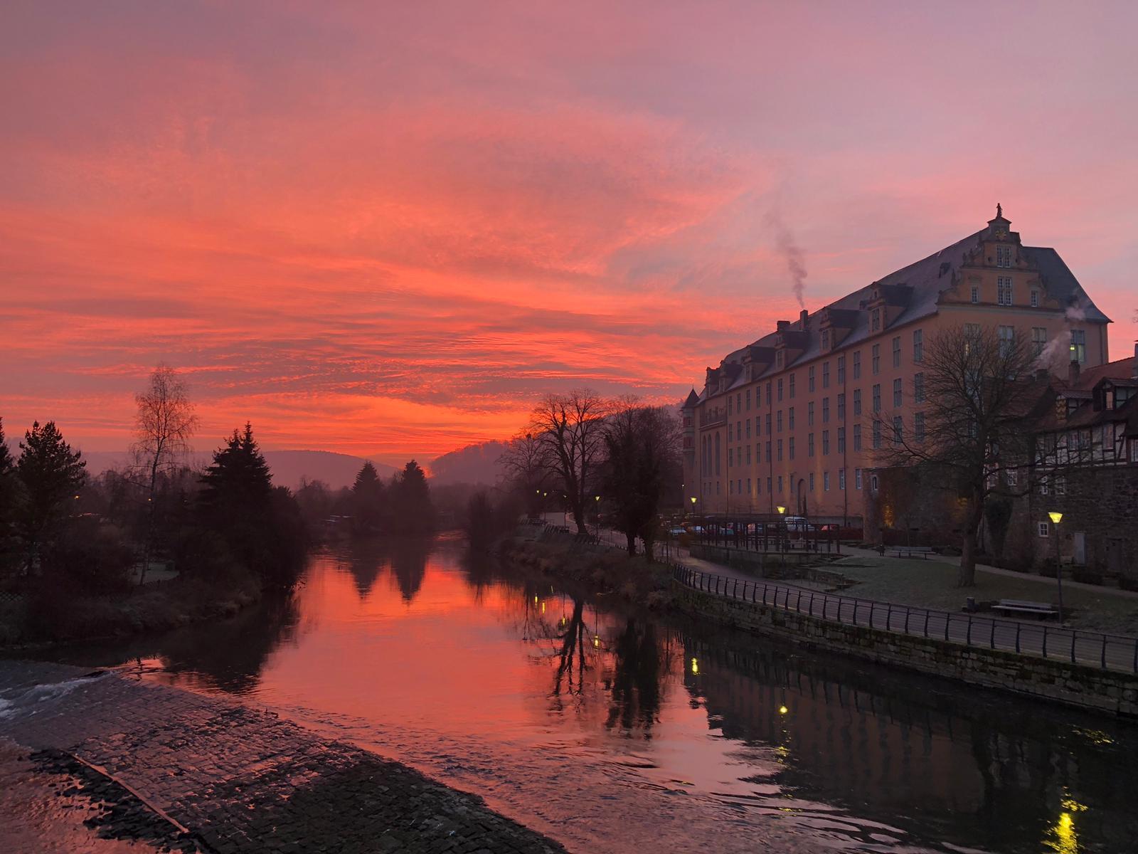Sonnenaufgang in Hann Münden
