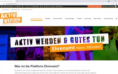 Internetplattform für das Ehrenamt in Hann. Münden geht online