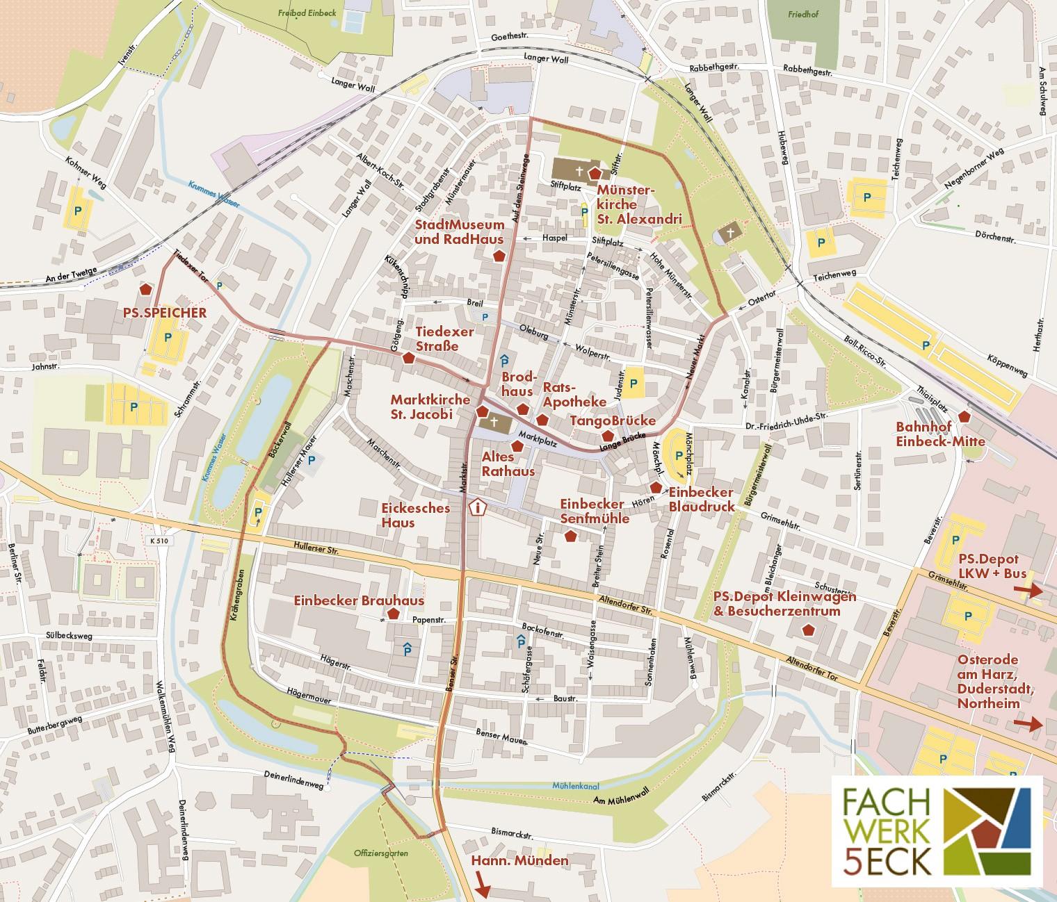 Stadtplan Einbeck